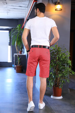 Pocket Detail Vermilion Shorts