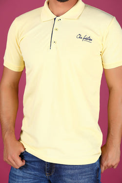 Yellow Polo Neck T-Shirt