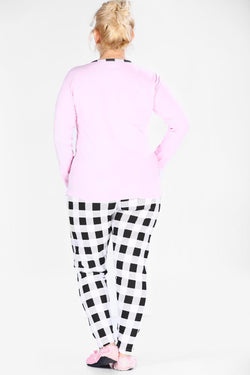 Women's Oversize Patterned Pajamas Suit