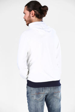 Men's Hooded Cream Sweatshirt
