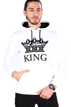 Men's Hooded White Sweatshirt