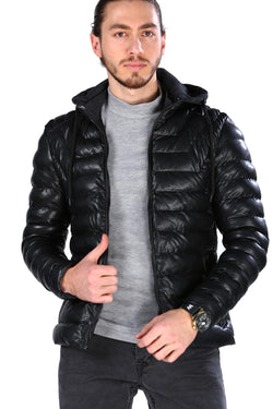 Men's Basic Hooded Coat