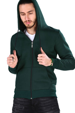 Men's Hooded Dark Green Sweatshirt