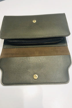 Women's Snap Buttoned Khaki Wallet
