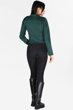 Women's Emerald Green Nubuck Jacket