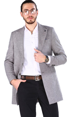 Men's Long Stone Color Coat