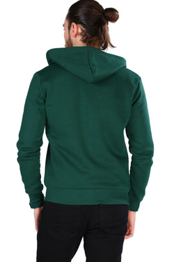 Men's Zipped Green Sweatshirt