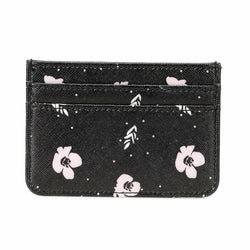 Women's Patterned Black Wallet