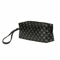 Women's Patterned Black Makeup Bag