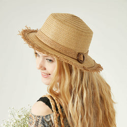 Women's Beige Straw Hat