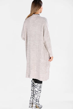 Women's Pocketed Stone Cardigan