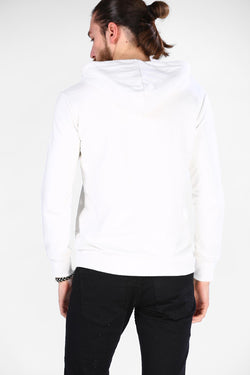 Men's Hooded Ecru Sweatshirt