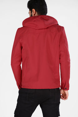 Men's Oversize Hooded Red Coat