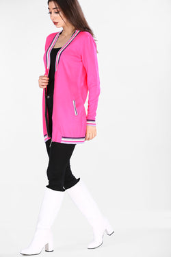 Women's Zipped Melon Cardigan