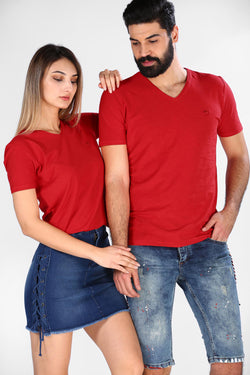 Unisex Basic Red T-shirt