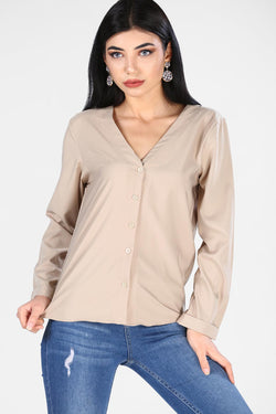 Women's Buttoned Stone Blouse/Shirt
