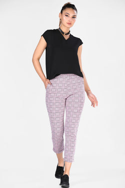 Women's Pocketed Patterned Pants