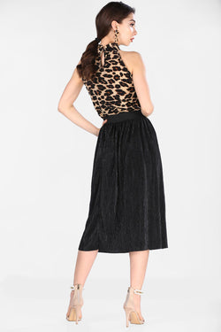 Women's Pleated Black Skirt