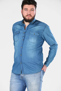 Men's Oversize Blue Denim Shirt