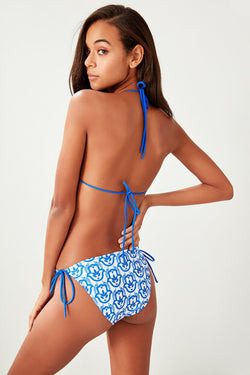 Women's Tie Sides Patterned Bikini Briefs