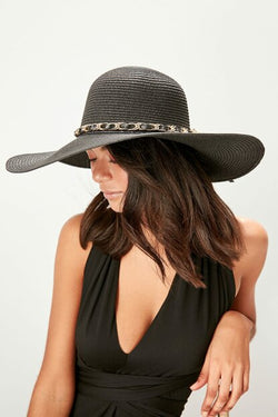 Women's Anthracite Straw Hat