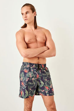 Men's Tropic Pattern Swim Trunks