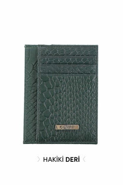 Men's Green Real Leather Wallet