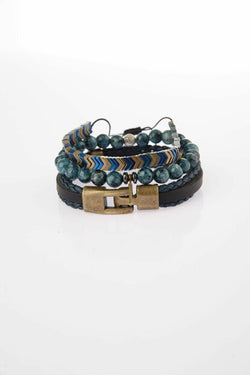 Men's Navy Blue Bracelets- 3 Pieces