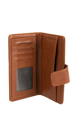 Men's Brown Long Leather Wallet