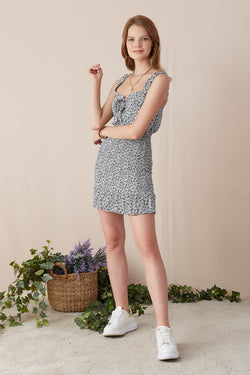 Women's Strappy Patterned Dress