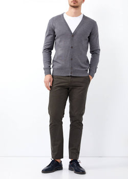 Men's Button Dark Grey Cardigan
