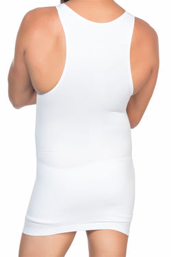 Men's White Slimming Undershirt