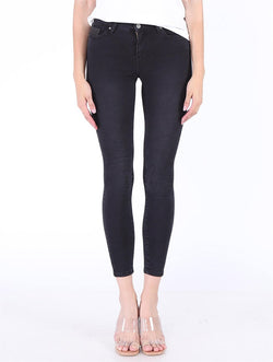 Women's Black Pocket Jeans