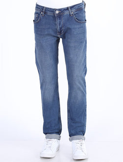 Men's Pocket Blue Jeans
