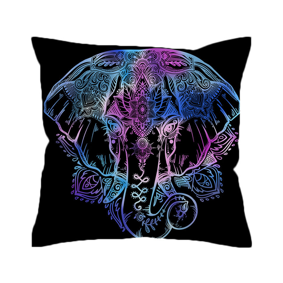 Beddingoutlet Elephant Cushion Cover Bohemian Pillow Case Lotus