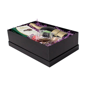 Hamper Box with Lid Black