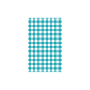 74212-TR Teal Gingham Greaseproof Paper 190x310mm Leisure Coast Hospitality & Packaging