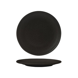 90971 Zuma Charcoal Round Plate Ribbed 265mm Leisure Coast Hospitality & Packaging