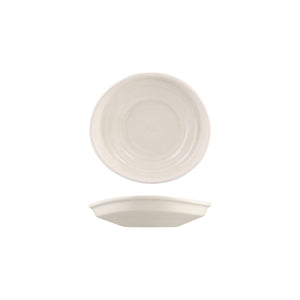 926532 Moda Porcelain Snow Organic Shape Plate 205x185x50mm Leisure Coast Hospitality and Packaging