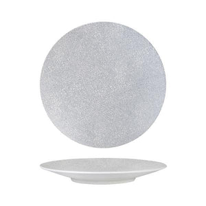Luzerne Zen Grey Web Round Coupe Plate