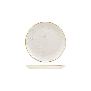 9975116-W Stonecast Barley White Round Coupe Plate 165mm Leisure Coast Hospitality & Packaging