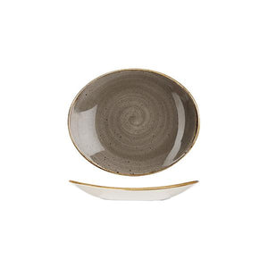 9975220-P Stonecast Peppercorn Grey Oval Coupe Plate 192x163mm Leisure Coast Hospitality & Packaging