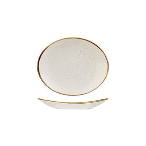 9975220-W Stonecast Barley White Oval Coupe Plate 192x163mm Leisure Coast Hospitality & Packaging