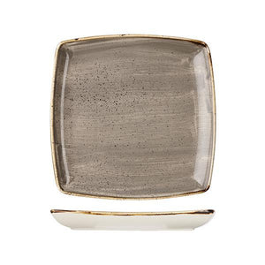 9975510-P Stonecast Peppercorn Grey Deep Square Plate 268x268mm Leisure Coast Hospitality & Packaging