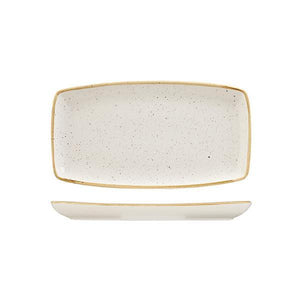 9975529-W Stonecast Barley White Oblong Plate 295x150mm Leisure Coast Hospitality & Packaging