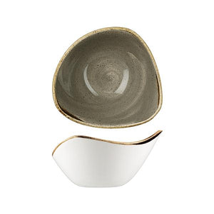 9975715-P Stonecast Peppercorn Grey Triangular Bowl 153x153mm / 260ml Leisure Coast Hospitality & Packaging