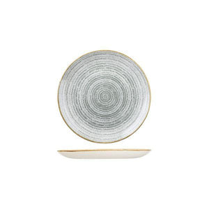 9976116-G Studio Prints Homespun Stone Grey Round Coupe Plate 165mm Leisure Coast Hospitality & Packaging