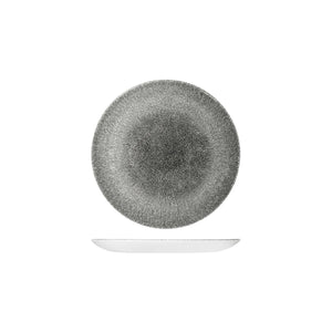 9976116-QB Studio Prints Raku Quartz Black Round Coupe Plate 165mm Leisure Coast Hospitality & Packaging