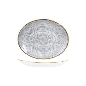 9976227-G Studio Prints Homespun Stone Grey Oval Coupe Plate 270x229mm Leisure Coast Hospitality & Packaging