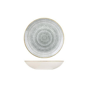 9976618-G Studio Prints Homespun Stone Grey Round Coupe Bowl 182mm / 426ml Leisure Coast Hospitality & Packaging